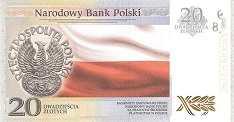 Польша: 20 злотых 2018 г. (100 лет независимости)