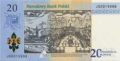Польша: 20 злотых 2017 г. (Божья Матерь Ясногорская)