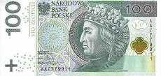 Польша: 100 злотых 2012 г.