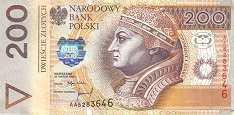 Польша: 200 злотых 1994 г.