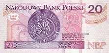 Польша: 20 злотых 1994 г.