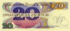 Польша: 20 злотых 1982 г.