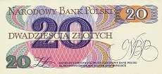Польша: 20 злотых 1982 г. (1 литера)