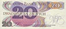 Польша: 20 злотых 1982 г. (2 литеры)