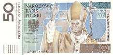 Польша: 50 злотых 2006 г. (Папа Римский Иоанн Павел II)