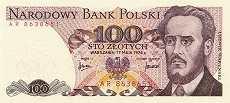 Польша: 100 злотых 1976 г.