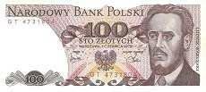 Польша: 100 злотых 1979 г.