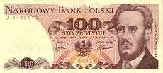 Польша: 100 злотых 1975 г.