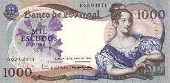 Португалия: 1000 эскудо 1967 г.