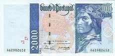 Португалия: 2000 эскудо 1995-2000 г.