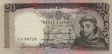 Португалия: 20 эскудо 1964 г.