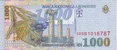 Румыния: 1000 леев 1998 г.