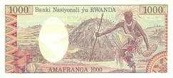 Руанда: 1000 франков 1978 г.