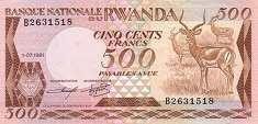 Руанда: 500 франков 1981 г.