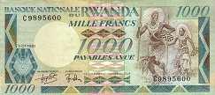 Руанда: 1000 франков 1981 г.