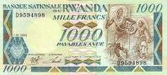 Руанда: 1000 франков 1988 г.