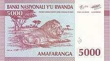 Руанда: 5000 франков 1994 г.
