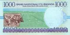 Руанда: 1000 франков 1998 г.