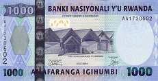 Руанда: 1000 франков 2004 г.