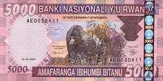 Руанда: 5000 франков 2004 г.