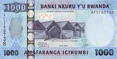 Руанда: 1000 франков 2008 г.