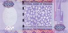 Руанда: 2000 франков 2007 г.