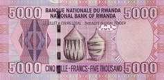 Руанда: 5000 франков 2009 г.