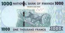 Руанда: 1000 франков 2015 г.