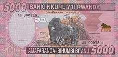 Руанда: 5000 франков 2014 г.