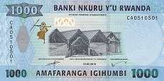 Руанда: 1000 франков 2019 г.