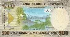 Руанда: 500 франков 2019 г.