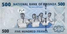 Руанда: 500 франков 2013 г.