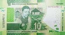 ЮАР: 10 рэндов 2018 г. (юбилейная)
