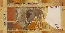 ЮАР: 20 рэндов (2012 г.)