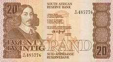 ЮАР: 20 рэндов (1984 г.)