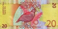 Самоа: 20 талов (2008-17 г.)