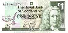 Шотландия: 1 фунт 1994 г. (Роберт Льюис Стивенсон)