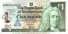 Шотландия: 1 фунт 1997 г. (Александр Грэхэм Белл)