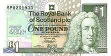 Шотландия: 1 фунт 1999 г. (1-е заседание шотландского парламента)