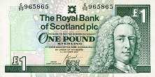 Шотландия: 1 фунт 1978-2001 г.