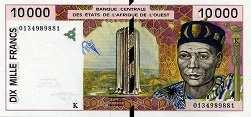 Сенегал: 10000 франков CFA-BCEAO (1991-2003 г.)