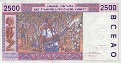 Сенегал: 2500 франков CFA-BCEAO (1991-2003 г.)
