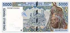 Сенегал: 5000 франков CFA-BCEAO (1991-2003 г.)