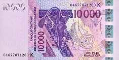 Сенегал: 10000 франков CFA-BCEAO 2003-17 г.