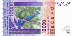 Сенегал: 10000 франков CFA-BCEAO 2003-16 г.
