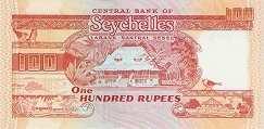 Сейшелы: 100 рупий (1989 г.)