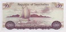 Сейшелы: 20 рупий (1977 г.)