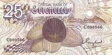 Сейшелы: 25 рупий (1983 г.)