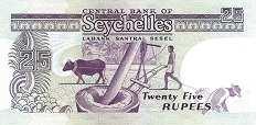 Сейшелы: 25 рупий (1989 г.)
