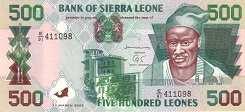 Сьерра-Леоне: 500 леоне 1995-2003 г.